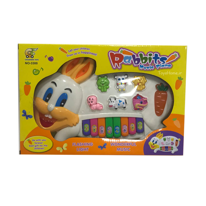 اسباب بازی پیانو طرح خرگوش