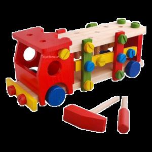 ماشین اسباب بازی چوبی
