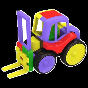 اسباب بازی آموزشی ماشین لیفتراک ساختنی Dobe