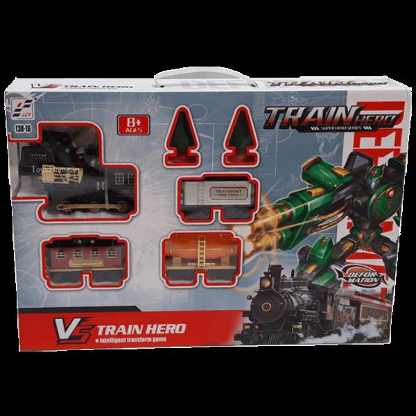 اسباب بازی قطار تبدیل شونده به ربات مدل TRAIN HERO