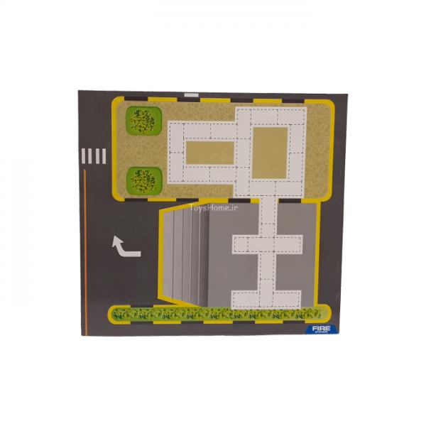 نقشه ایستگاه اتشنشان لگو آجر
