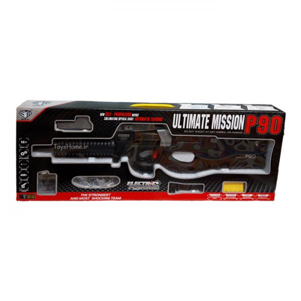 اسباب بازی تفنگ شارژی لیزر دار مدل P90